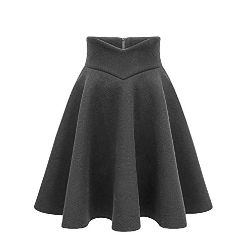 8c58c4615 AiWoo dress Elegant Women Wool Skirt Autumn Warm Winter High Waist Thicken  Pleated A Line Slim