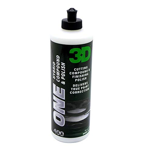 3D One - Professional Cutting, Polishing, and Finishing Compound (16 Oz) for Paint Correction, Auto Detailing and Buffing