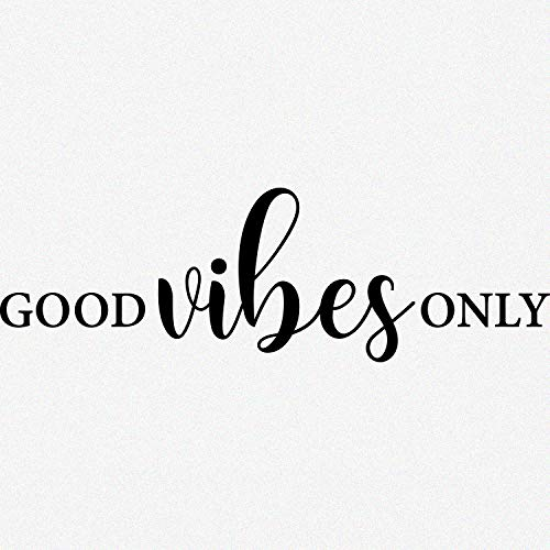 My Vinyl Story Good Vibes Only Inspirational Wall Decal Motivational Office Decor Quote Inspired Motivated Positive Focused Wall Art Vinyl Wall Decal School Classroom Words and Saying 36x10 in
