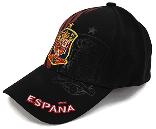High End Hats World Soccer / Football Team Hat Collection Baseball Cap Flexfit Hat , Espana with RFEF Logo, (Team Logo Unstructured Cap)