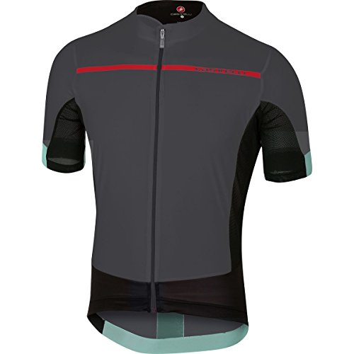 Castelli Forza Pro Jersey - Men's Anthracite/Red, ()