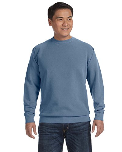 Comfort Colors Pigment-Dyed Crewneck Sweatshirt. 1566 M Blue Jean