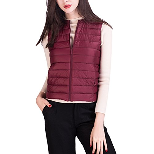 不安従来の段落Zhhlinyuan 柔らかい Korean Fashion Light Small Slim Vest Down Jacket 優れた Sleeveless Short Outwear Tops Ladies Outdoor
