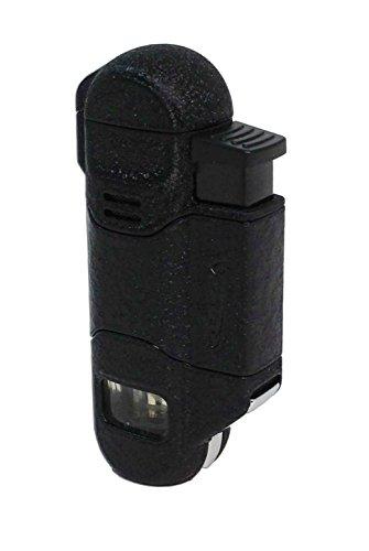 Vector 05 Radar Triple [3] Flame Cigar Lighter Black Crackle (Black Crackle Matte)