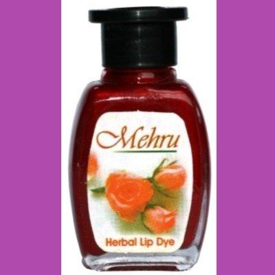 Mehru Lip Dye, Natural Herbal Lip Stain - Berry Pink