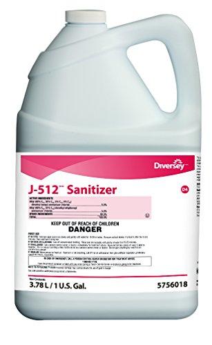 Diversey J-512 TM/MC Sanitizer (1-Gallon, Case of 4) - 512 Sanitizer