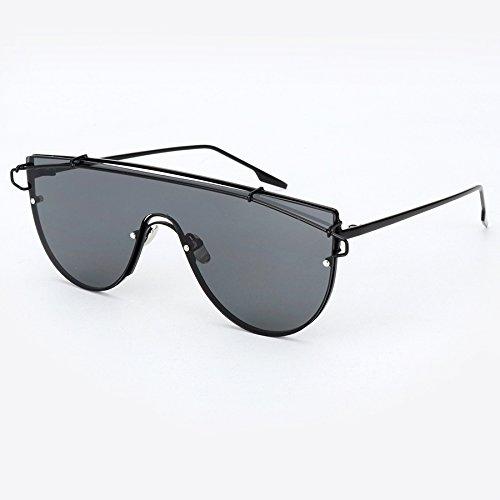 Sol Verano E diseñador Marca Unisex Sol Marco Lente de Gafas E Sobredimensión Gafas de Mujer Estilo conjuntada de de Aleación Burenqi pq1REwxp7C