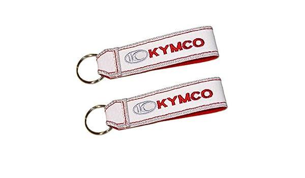 Moto Discovery Kymco cordón Llavero Doble Cara Blanco (1 ...