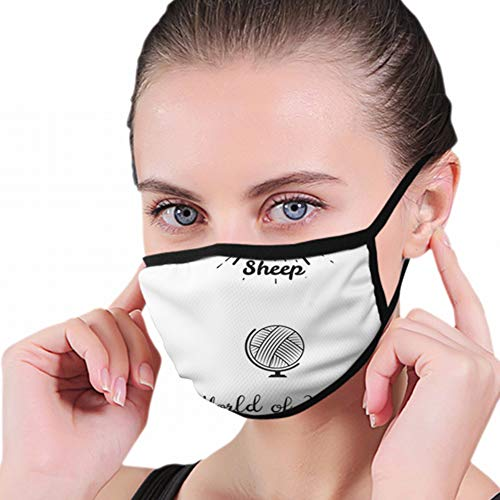 Fashion Mouth Mask,Knitting Label Set Hand Knit Industrial Vintage Unisex Anti-Dust Face Mouth Muffle Mask For Kids Teens Men Women, Windproof Motorcycle Face Emoticon Masks For Ski Cycling Camping from Cool pillow