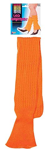 Forum Novelties Neon Leg Warmers, Orange, One Size -