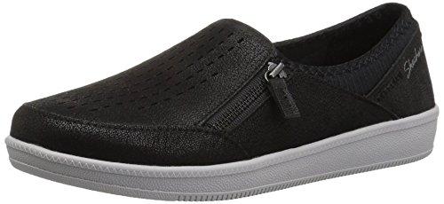 (Skechers Women's Madison AVE-Street Smart Sneaker, BLACK, 7.5 M US)