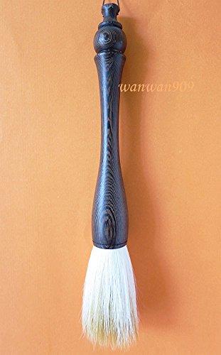 - Chinese Calligraphy Brush Length 24.5cm Diameter 28mm Sandalwood Holder Goat Hair (As Picture, 28mm Diameter)