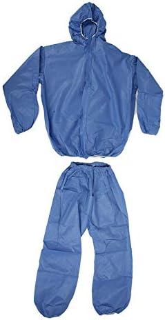 BESPORTBLE Overoles de Protecci/ón Reutilizables Impermeables Traje de Protecci/ón del Cuerpo Overoles de Protecci/ón de Seguridad para Trabajar Al Aire Libre Azul Talla L