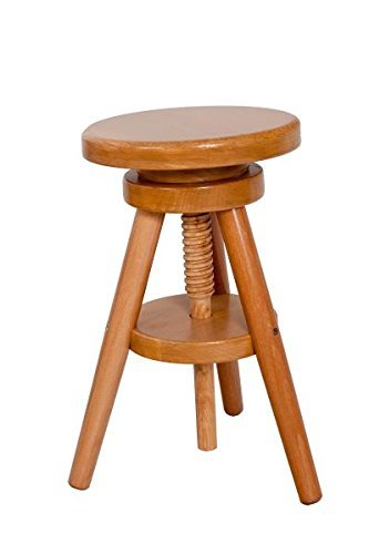 Adjustable Bar Stool Oak Wood Laquer Finish: Amazon.co.uk: Kitchen U0026 Home