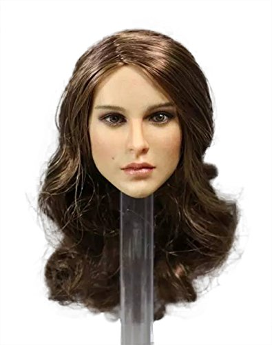 Phicen 1/6 Scale Head Sculpt with Brown Hair for 12