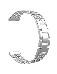Replacement Cowboy Stainless Steel Bands for Pebble Time Smartwatch (Silver)