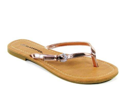 Ville Classée Femmes Squash Sandales Penny Metallic Pu