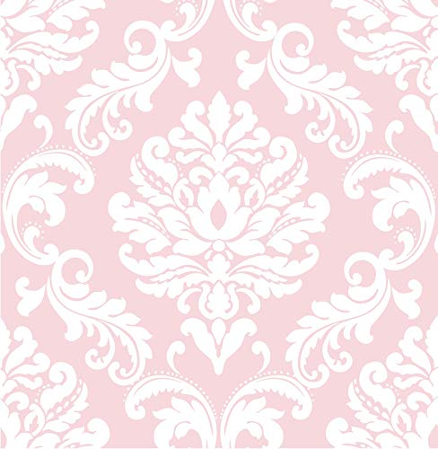 (NuWallpaper Wall Pops NU1397 Pink Ariel Peel and Stick Peel & Stick Wallpaper)