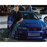 ブロマイド写真★『ワイルド・スピードMAX』ポール・ウォーカー/青いNISSAN Skyline GT-R R34とブライアン