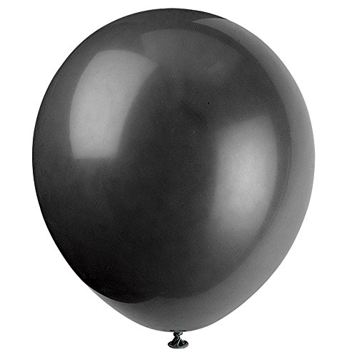 "Latex Balloons, 12"", Jet Black, 10 Count"
