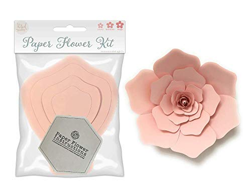 Paper Flower Template Kit  DIY Wall Decorations  Instructions Included  8 Piece Set
