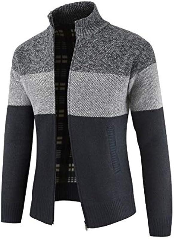 SALEBLOUSE męska kurtka dziergana z kapturem, dziergana odzież uliczna, męska bluza z kapturem, kurtka przejściowa, kardigan do aktywności na świeżym powietrzu, pracy i w czasie wolnym w zim