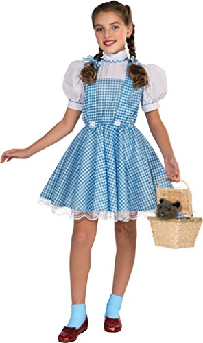 Rubie's Costume Wizard of Oz Deluxe Dorothy & Toto Costume Bundle, Multicolor, Medium (Dorothy Shoes From The Wizard Of Oz)