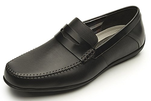 Flexi Soho 68607 Men's Genuine Black Leather Classic Style Penny Loafer | Handmade in Mexico, 12 (Leather Soho Black)
