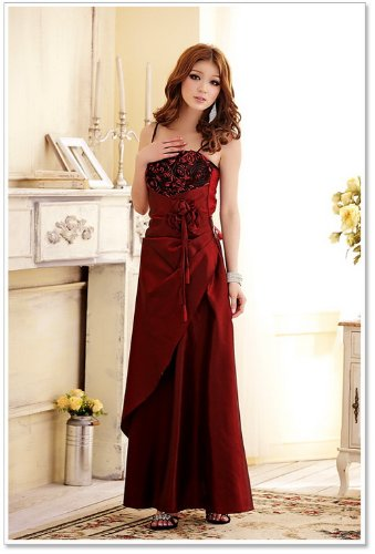 noble Vestido Wine Bud de fiesta Prom elegante Red novia versión vestido francés noche Caliente Vestido vestido venta de cóctel largo XwSCq7C