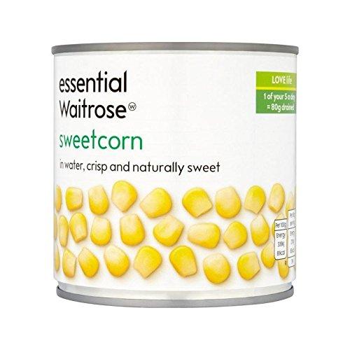 essential Naturally Sweet Sweetcorn Waitrose 326g - Pack of 6