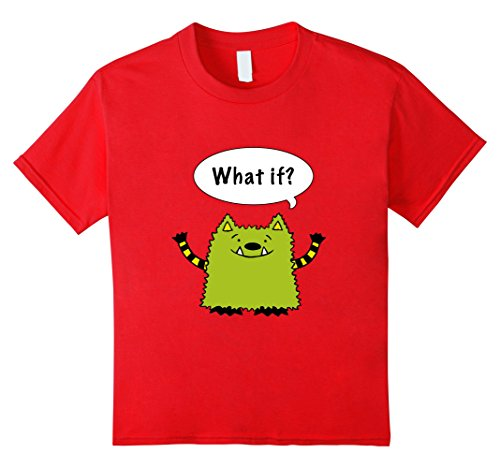 Unisex Child Official Mns Creative Whatif You Can Tee Shirt 4 Red