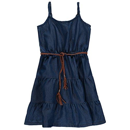 Star Ride Girls' Denim Dress (10/12, Chambray) (Chambray Dress For Girls)