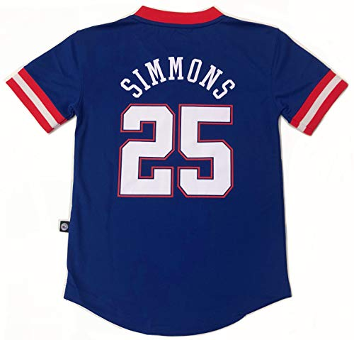 (Outerstuff NBA Boys Youth 8-20 Short Sleeve Player Name & Number Performance Jersey (Youth Large 14-16, Ben Simmons Philadelphia 76ers))