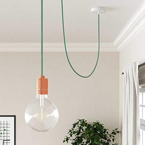 2x0.75 creative cables Fil /Électrique Rond Gaine De Tissu De Couleur Coton Tissu Uni Lait Menthe RC34-5 m/ètres