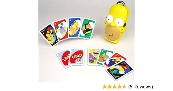 Amazon com: The Simpsons Homer Head UNO: Toys & Games