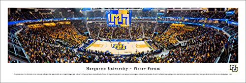 (Marquette Basketball - 1st Game at Fiserv Forum - Unframed 40 x 13.5 Poster by Blakeway Panoramas )