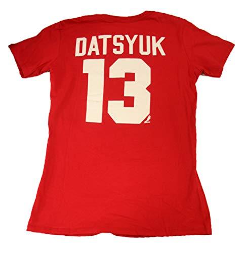 Datsyuk T-shirt - Knights Apparel Pavel Datsyuk Detroit Red Wings NHL Womens Red Name & Number T-Shirt (Medium)