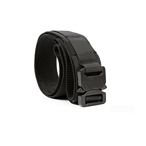 Yisibo Tactical Waist Belt with Molle System Military Style Belt Nylon Belts Metal Buckle 1.5'' inch Black Tan XL