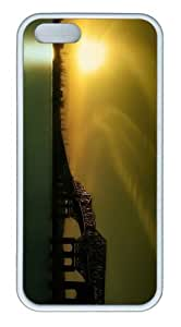 iPhone 5S Customized Unique Landscape Flowers Gold Sunset Sky 14 New Fashion TPU White iPhone 5/5S Cases