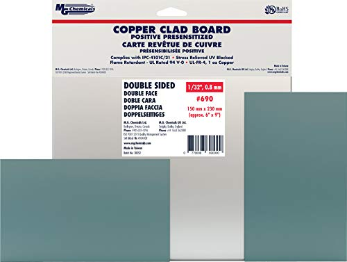 MG Chemicals 690 Positive Presensitized Copper Clad Board, Double Sided,  9