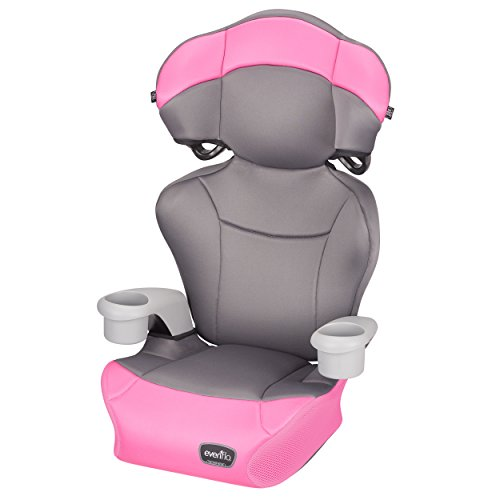 Evenflo Big Kid AMP High Back Booster Car Seat, Pink Dove (Evenflo Amp High Back Booster Car Seat Carrissa)