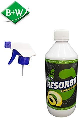 RESORBB® PUR 0,5l. + Sprühkopf Zur Geruchsneutralisierung sowie Fleckenentfernung