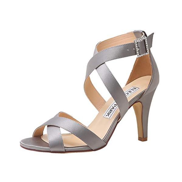 Sandalias de fiesta plateadas - ElegantPark