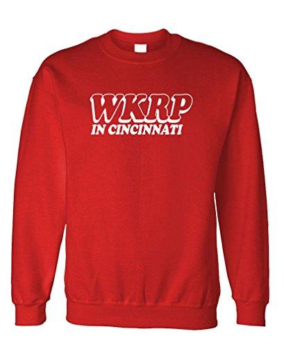 WKRP Cincinnati - 70's Retro tv Comedy Show - Fleece Sweatshirt, M, Red - Fleece Cincinnati Reds Pullover
