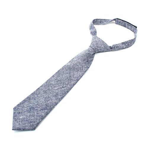 "Kids Cotton Formal Necktie Tie Chambray Texture - 2 1/2"" Width save more"