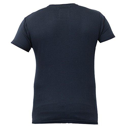 Herren Kurzärmelig Netz T-shirts Von Soul Star - Marineblau - THANOSPKB, L
