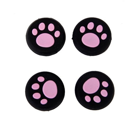 Vivi Audio Thumb Stick Grips Cap Cover Joystick Thumbsticks Caps For PS4 XBOX ONE XBOX 360 PS3 PS2 Pink Cat Dog Paw 4pcs