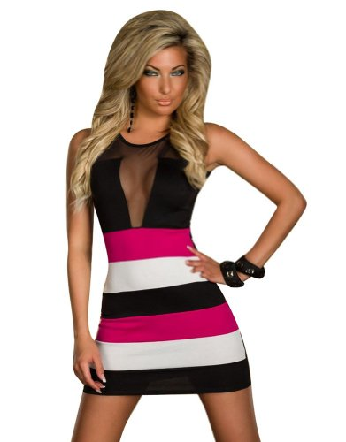 Women Sleeveless Lace Sexy Clubwear Party Strip Cocktail Evening Mini Dress