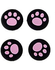 Vivi Audio® Thumb Stick Grips Cap Cover Joystick Thumbsticks Caps For PS4 XBOX ONE XBOX 360 PS3 PS2 Pink Cat Dog Paw 4pcs