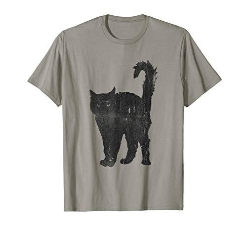- Awesome Punk Rock Black Cat T-Shirt Mens & Womens